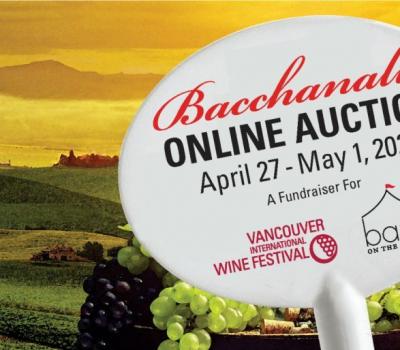 Bacchanalia Online Auction Announced